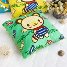 BN-DP002 [Green Candy Bear] Decorative Pillow Cushion / Floor Cushion (15.8 by 15.8 inches)