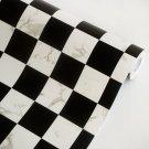 AIH-P1075-Swatch Black & White - Self-Adhesive Wallpaper Home Decor(Sample)