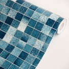 AIH-P1076-2-Swatch Blue Mosaic - Self-Adhesive Wallpaper Home Decor(Sample)