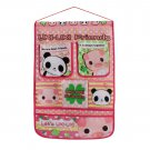 BN-WH014 [Panda &Pig] Pink/Wall Hanging/ Wall Baskets / Wall Organizers (15*21)