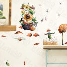 HEMU-HL-1205 Leafy season - Wall Decals Stickers Appliques Home Decor