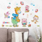 HEMU-HL-1244 Animal Friends-1 - Wall Decals Stickers Appliques Home Decor