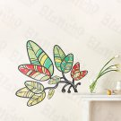 HEMU-HL-1248 Florid Leaf - Wall Decals Stickers Appliques Home Decor