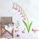 HEMU-HL-1271 Pink Lily Valley - Wall Decals Stickers Appliques Home Decor