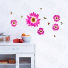 HEMU-HL-1306 Delightful Petals - Wall Decals Stickers Appliques Home Decor