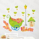 HEMU-HL-1320 Flowers & House - Wall Decals Stickers Appliques Home Decor