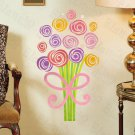 HEMU-HL-1322 Colorful Bouquet - Wall Decals Stickers Appliques Home Decor