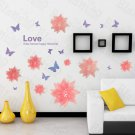 HEMU-HL-2103 Romantic Flower - Large Wall Decals Stickers Appliques Home Decor