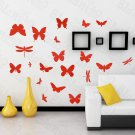 HEMU-HL-2114 Fluttering Butterflies - Large Wall Decals Stickers Appliques Home Decor