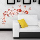 HEMU-HL-2151 Flower Vine - Large Wall Decals Stickers Appliques Home Decor