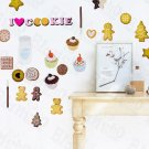 HEMU-HL-5618 Ginger Cookies - Large Wall Decals Stickers Appliques Home Decor
