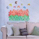 HEMU-HL-5636 Rosebush & Butterflies - Large Wall Decals Stickers Appliques Home Decor