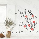HEMU-HL-5817 Red Flowers - Large Wall Decals Stickers Appliques Home Decor