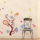 HEMU-HL-5830 Flower Tree - Large Wall Decals Stickers Appliques Home Decor