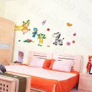 HEMU-HL-5831 Zebra Friends - Large Wall Decals Stickers Appliques Home Decor