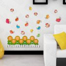 HEMU-HL-5895 Sunflowers & Bees - Large Wall Decals Stickers Appliques Home Decor