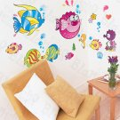 HEMU-HL-6806 Tropical Fish 2 - X-Large Wall Decals Stickers Appliques Home Decor