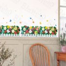 HEMU-HL-6820 Flourish Fence - X-Large Wall Decals Stickers Appliques Home Decor