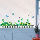 HEMU-HL-6822 Green Fence 2 - X-Large Wall Decals Stickers Appliques Home Decor