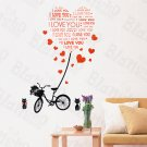 HEMU-HL-6823 Love Letter - X-Large Wall Decals Stickers Appliques Home Decor