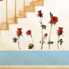 HEMU-HL-6838 Redness Rose - X-Large Wall Decals Stickers Appliques Home Decor