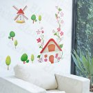 HEMU-HL-919 Windmill - Wall Decals Stickers Appliques Home Decor