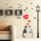 HEMU-HL-952 Cat Love - Wall Decals Stickers Appliques Home Decor