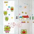 HEMU-HL-969 Happy Frog - Wall Decals Stickers Appliques Home Decor