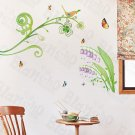 HEMU-HL-9808 Butterflies and Ivy - X-Large Wall Decals Stickers Appliques Home Decor