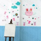 HEMU-HL-9809 Lovely Rabbit - X-Large Wall Decals Stickers Appliques Home Decor