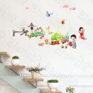 HEMU-HL-990 Plant Fun-1 - Wall Decals Stickers Appliques Home Decor