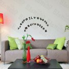 HEMU-JM-1015 Christmas Alphabet - Wall Decals Stickers Appliques Home Decor 9.4 BY 16.5 Inches