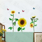 HEMU-LB-1819 Outstanding Sunflowers - Wall Decals Stickers Appliques Home Decor
