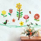 HEMU-LD-8017 Cheerful Front Yard - Wall Decals Stickers Appliques Home Decor