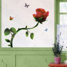 HEMU-LD-8074 Brilliant Flowers - Wall Decals Stickers Appliques Home Decor
