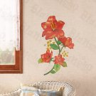 HEMU-LD-8107 Rubies Flowers - Wall Decals Stickers Appliques Home Decor