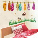 HEMU-LD-8108 Slipper Party - Wall Decals Stickers Appliques Home Decor