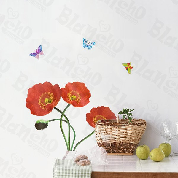 HEMU-SH-804 Delicate Flowers - Wall Decals Stickers Appliques Home Decor