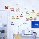 HEMU-SH-829 Happy Train - Wall Decals Stickers Appliques Home Decor