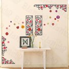 HEMU-XS-006 Flower Frame - Large Wall Decals Stickers Appliques Home Decor