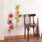 HEMU-XS-047 Colorful Flowers - Large Wall Decals Stickers Appliques Home Decor