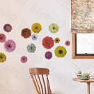 HEMU-ZS-013 Colorful Petals - Wall Decals Stickers Appliques Home Decor