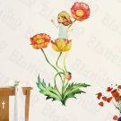 HEMU-ZS-046 Delightful Flowers - Wall Decals Stickers Appliques Home Decor