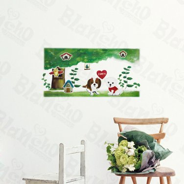 HEMU-ZS-069 Puppy Love - Wall Decals Stickers Appliques Home Decor