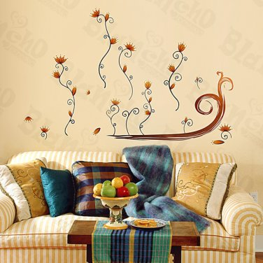 HEMU-ZS-080 Flower Decor-4 - Wall Decals Stickers Appliques Home Decor