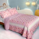 QTS-WB8036-23 [Candy Pink] Cotton 3PC Patchwork Quilt Set (Full/Queen Size)