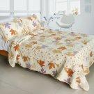 QTS-WB8046-23 [Ordinary Romantic] Cotton 3PC Patchwork Quilt Set (Full/Queen Size)