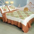 QTS-WB8071-1-23 [Love Profile ] Cotton 3PC Patchwork Quilt Set (Full/Queen Size)