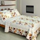 QTS-WB8109-23 [Romantic Beach] Cotton 3PC Patchwork Quilt Set (Full/Queen Size)