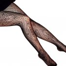 LING-HLP1002 Sexy Black Sheer Floral Lace Stocking Pantyhose Hosiery